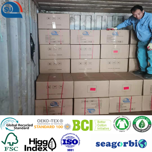 Biodegraded recycled cationic polyester DTY low melt 90 75d/72f 150d/144f 50d/36f (Oeko-tex100/GRS/Biodegradable/ocean Bound Plastic)